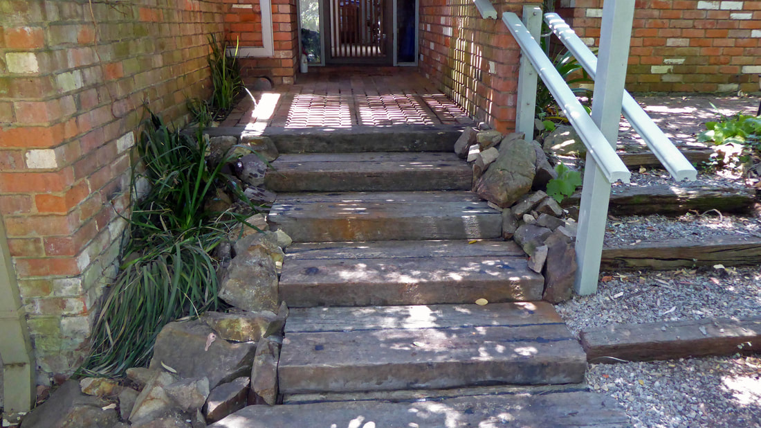 Bickleigh Vale, Abbotsley new front steps 9, Jan '19 - complete_5