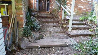 Bickleigh Vale, Abbotsley new front steps 9, Jan '19 - construction - Step 1_2