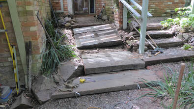 Bickleigh Vale, Abbotsley new front steps 9, Jan '19 - construction - Step 3_1
