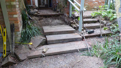 Bickleigh Vale, Abbotsley new front steps 9, Jan '19 - construction - Step 3_2